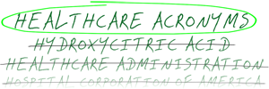Healthcare Acronyms logo
